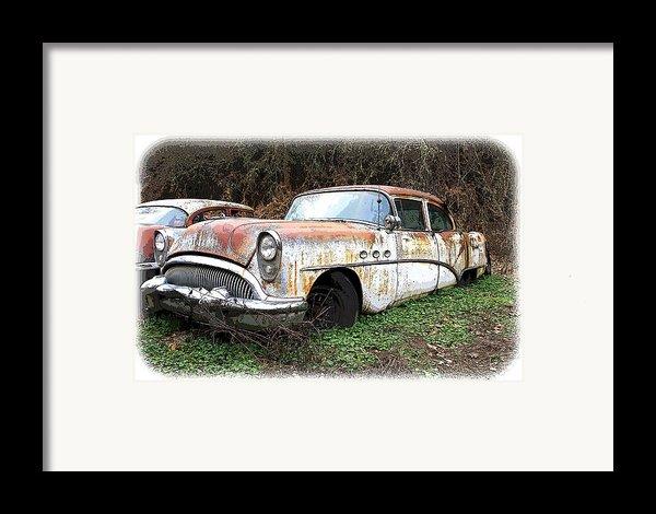 Buick Yard Framed Print By Steve Mckinzie