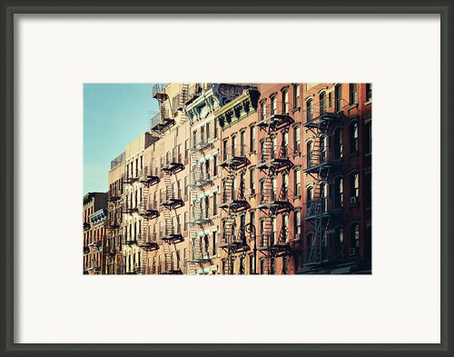 Building Fire Escape Stairs And Windows Framed Print By Niccirf