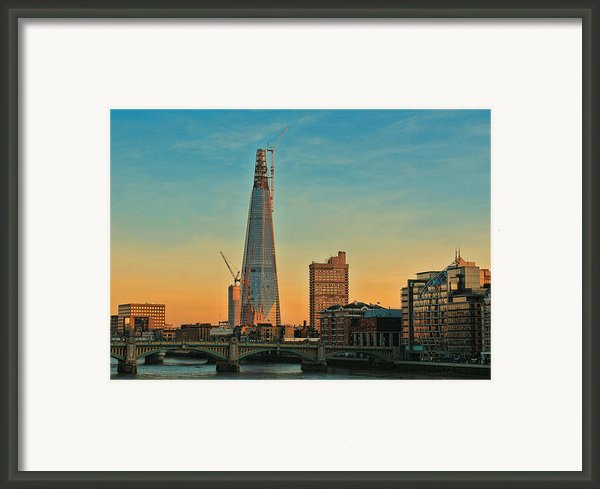 Building Shard Framed Print By Jasna Buncic
