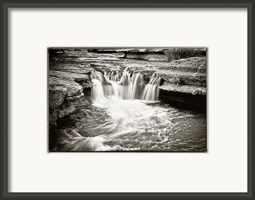 Bull Creek Water Run Framed Print By Lisa  Spencer