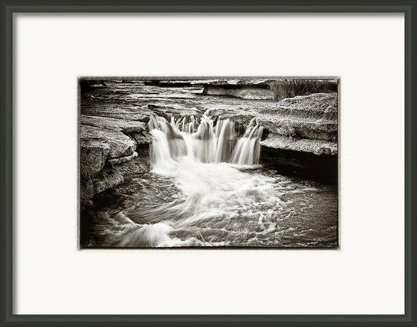Bull Creek Water Run Framed Print By Lisa  Spencer