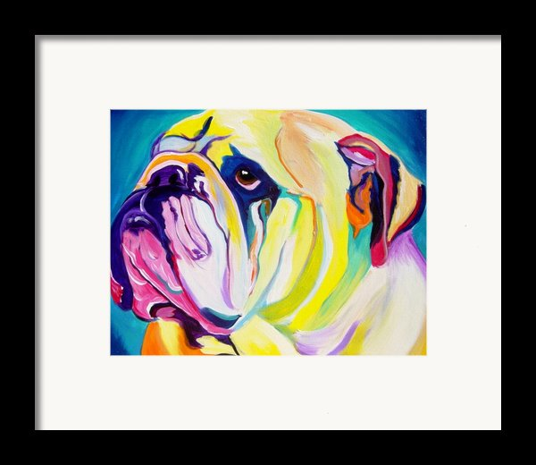 Bulldog - Bully Framed Print By Alicia Vannoy Call