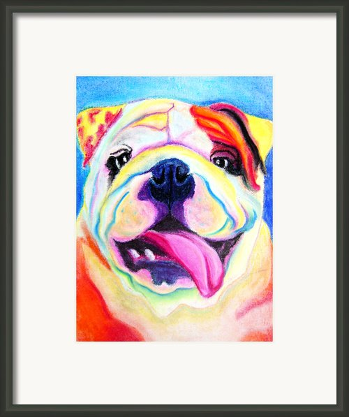 Bulldog - Bully Smile Framed Print By Alicia Vannoy Call