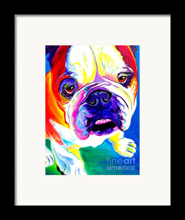 Bulldog - Stanley Framed Print By Alicia Vannoy Call