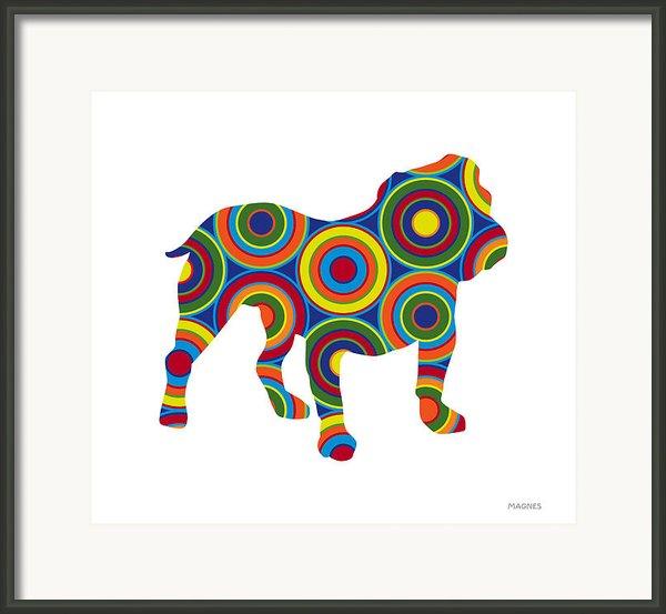 Bulldog Framed Print By Ron Magnes