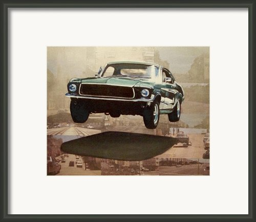 Bullitt - Steve Mc Queen Mustang Framed Print By Ryan Jones
