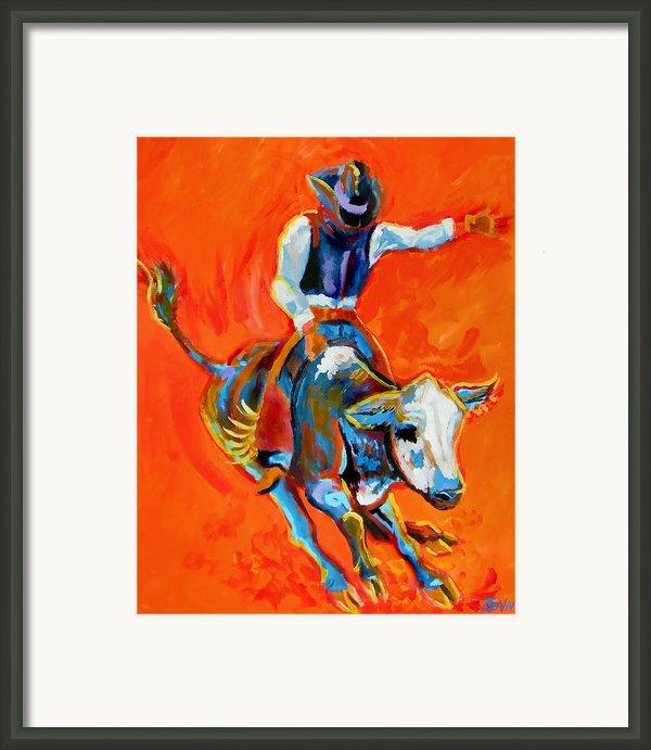Bullrider Framed Print By Jenn Cunningham