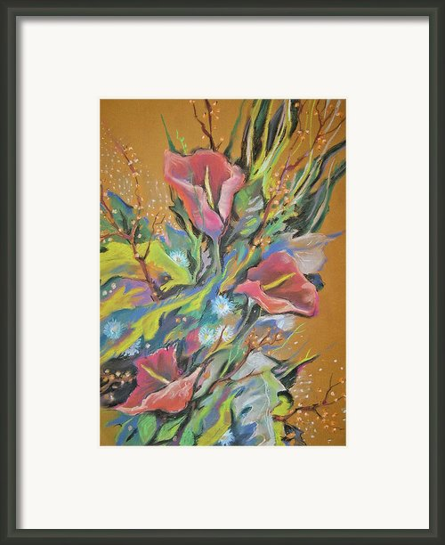 Bunch Of Flowers Framed Print By Olena Chernyshova