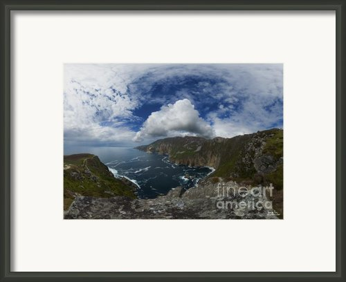 Bunglas  Highest Sea Cliffs In Europe Framed Print By George Row