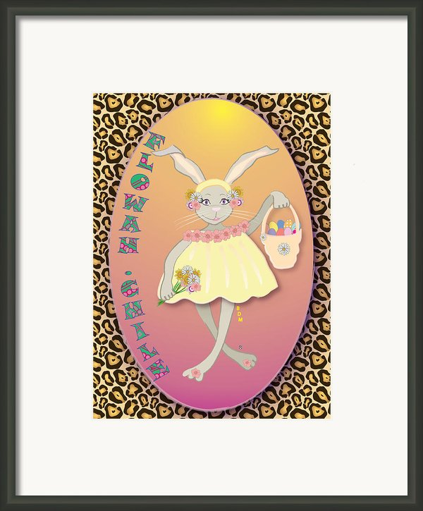 Bunnie Girls- Flowah Chile 1 Of 4  Framed Print By Brenda Dulan Moore