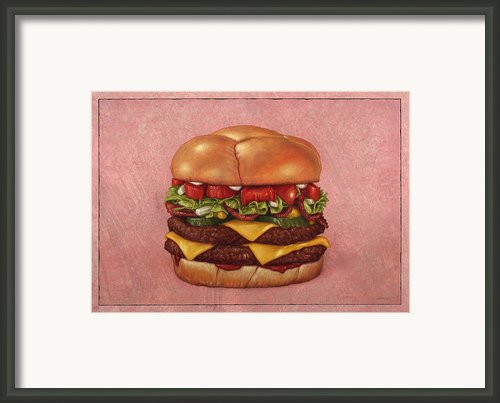 Burger Framed Print By James W Johnson