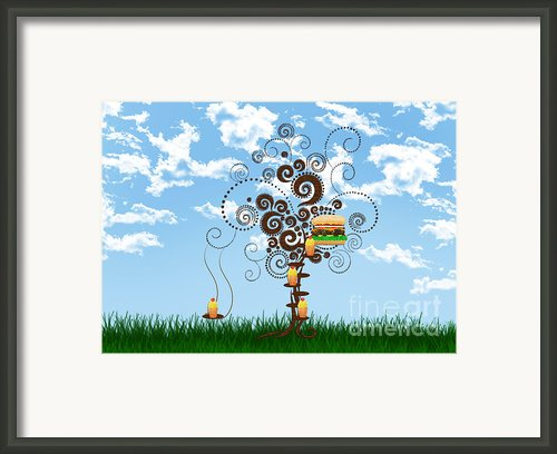 Burger Tree House And The Cupcake Kids  Framed Print By Andee Photography
