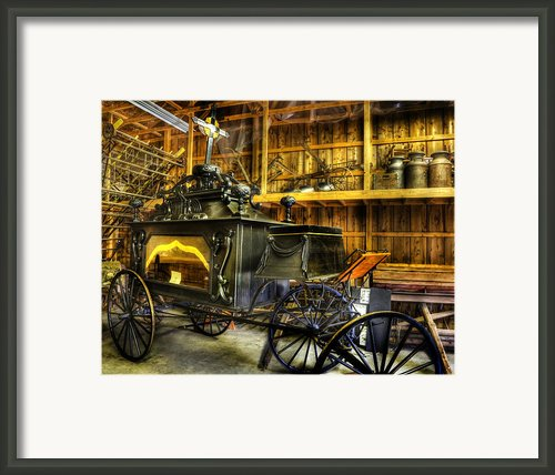 Burial Hearse Wagon Coach - Vintage - Nostalgia - Western - Antique  Framed Print By Lee Dos Santos