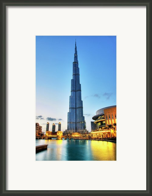 Burj Khalifa Sunset Framed Print By Shawn Everhart