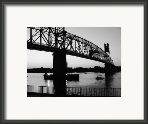 Burlington Bristol Bridge  Framed Print By D R Teest