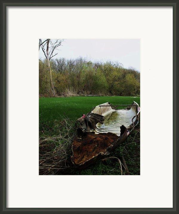 Burnt Out Boat Framed Print By Anna Villarreal Garbis