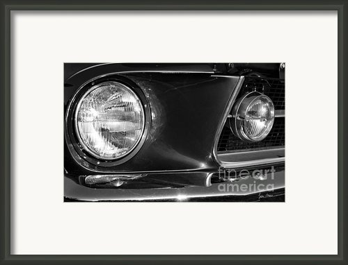 Burnt Rubber Framed Print By Luke Moore