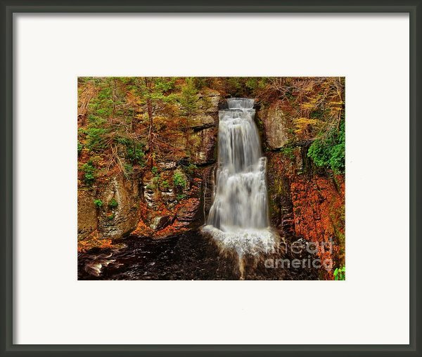 Bushkill Main Falls Framed Print By Nick Zelinsky