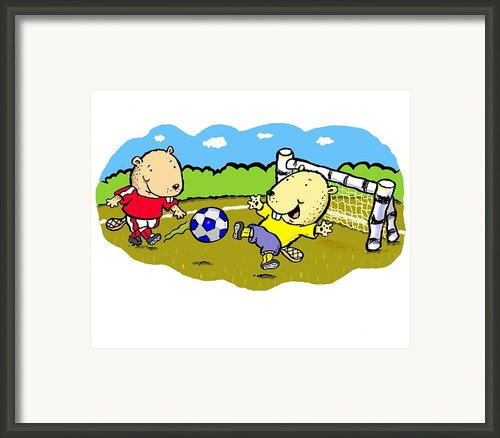 Busy Beaver Soccer Framed Print By Scott Nelson