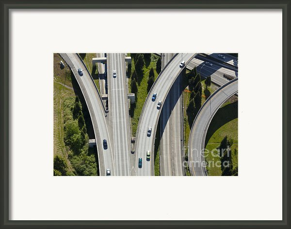Busy Freeway Interchange Framed Print By Don Mason