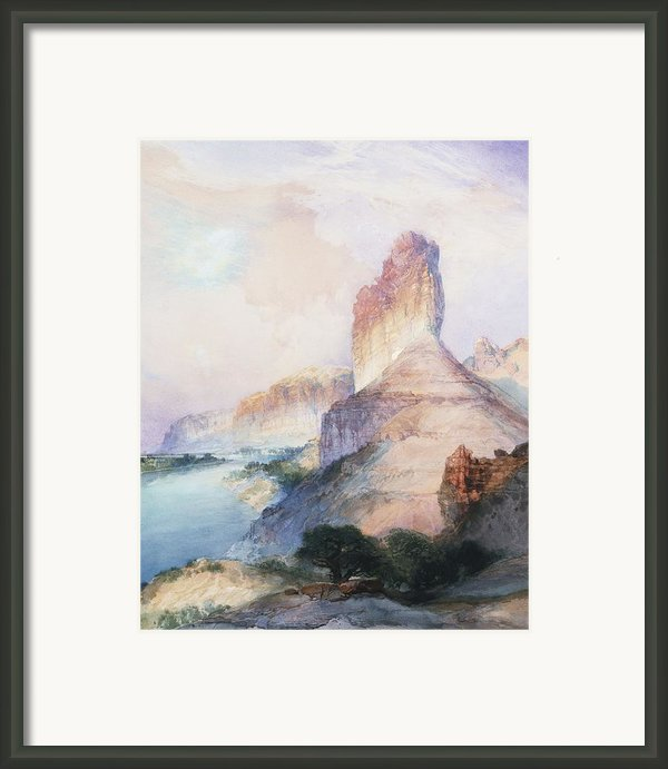 Butte Green River Wyoming Framed Print By Thomas Moran