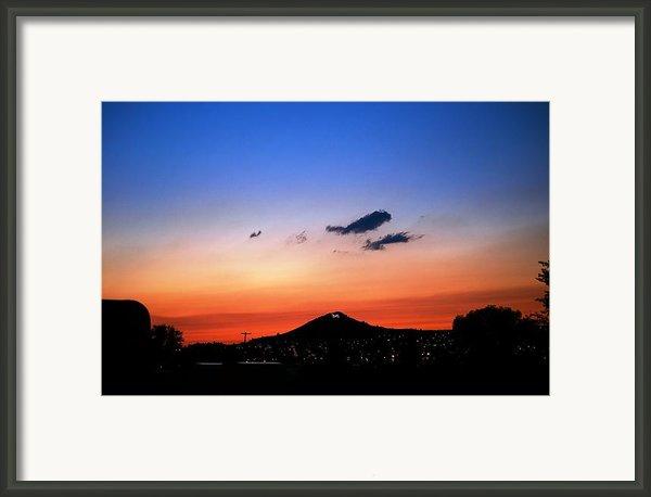 Butte Montana Sunset Framed Print By Kevin Bone