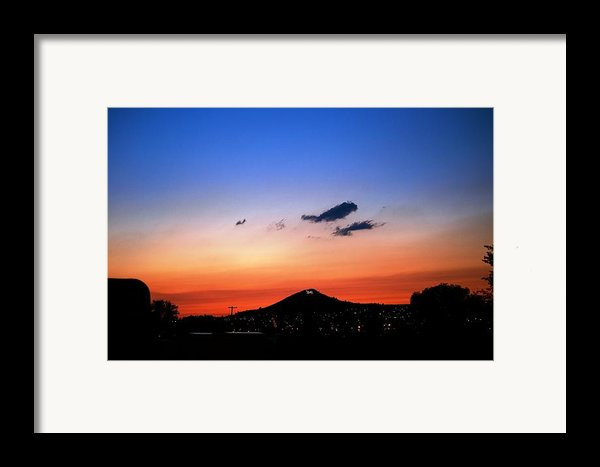 Butte Montana Sunset Framed Print By Kevin Bone