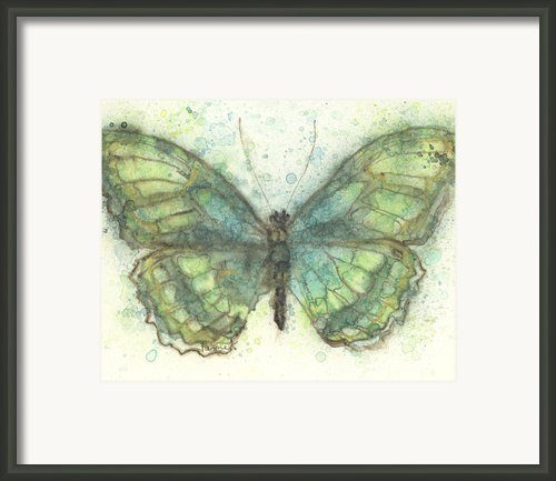 Butterfly In Emerald Framed Print By Pam Ek