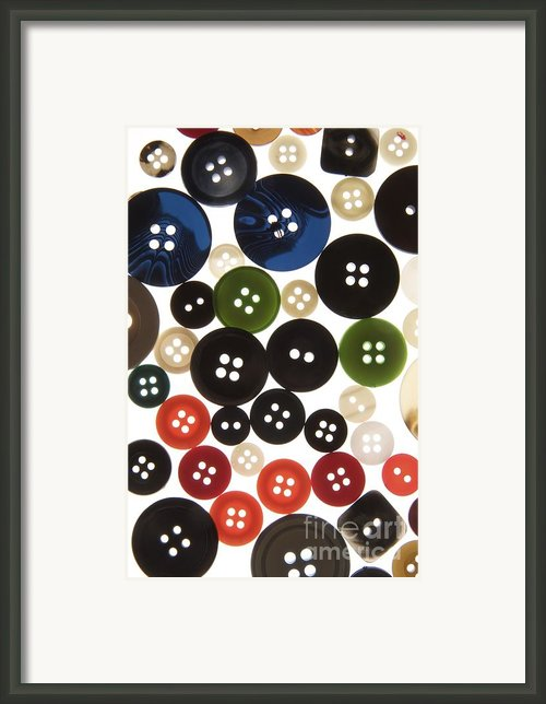 Buttons Framed Print By Bernard Jaubert
