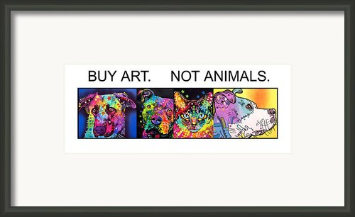 Buy Art Not Animals Framed Print By Dean Russo