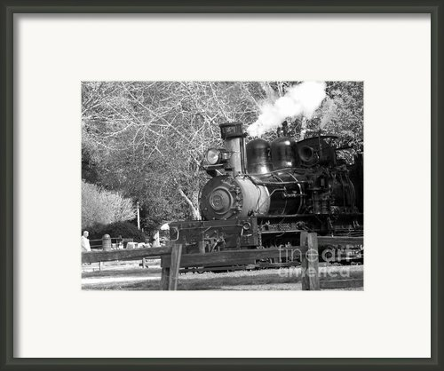 Bw 33 - Roaring Camp Railroad  Framed Print By Chris Berry