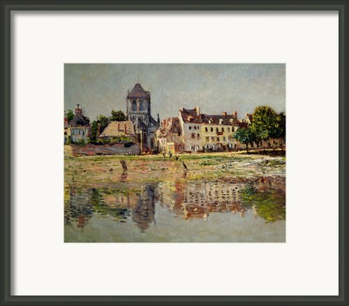 By The River At Vernon Framed Print By Claude Monet