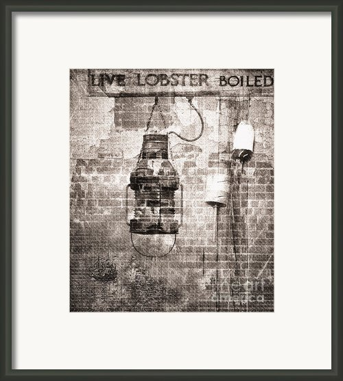 By The Sea In Brown Framed Print By Betty Larue