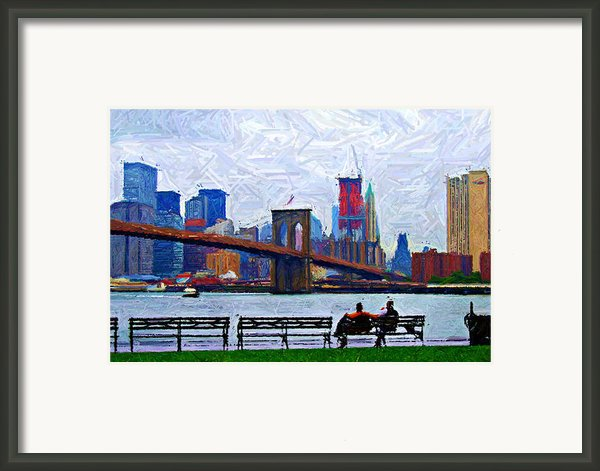 By The Water Too Sketch Framed Print By Randy Aveille