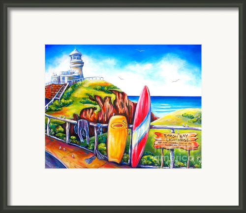 Byron Bay Lighthouse Framed Print By Deb Broughton