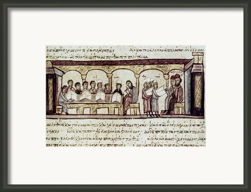Byzantine Philosophy School Framed Print By Granger