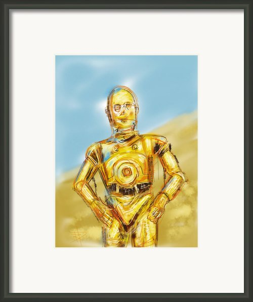 C3po Framed Print By Russell Pierce