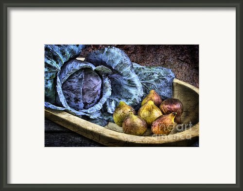 Cabbage And Figs Framed Print By Sari Sauls