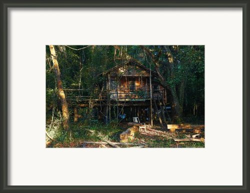 Cabin Fever Watercolor Framed Print By Joseph G Holland