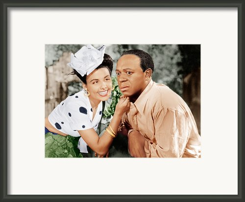 Cabin In The Sky, From Left Lena Horne Framed Print By Everett