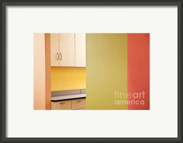 Cabinets In An Office Supply Room Framed Print By Jetta Productions, Inc
