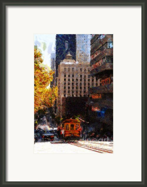 Cablecar On San Francisco California Street  . Painterly . 7d7176 Framed Print By Wingsdomain Art And Photography