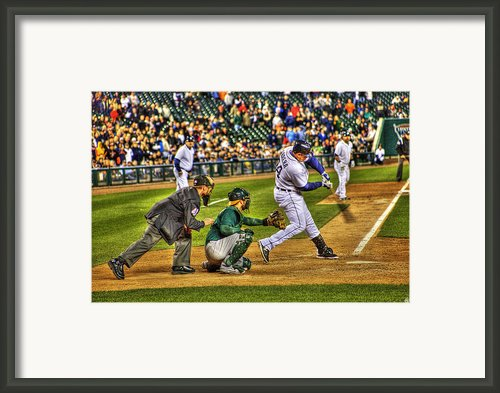 Cabrera Grand Slam Framed Print By Nicholas  Grunas
