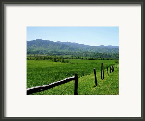 Cades Cove View Framed Print By Nancy Mueller