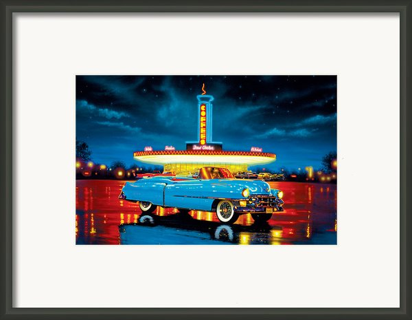 Cadillac Diner Framed Print By Mgl Studio - Chris Hiett