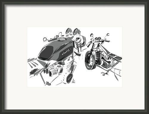 Cafe - Variation Framed Print By Jeremy Lacy