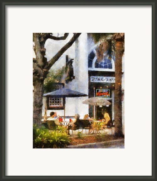 Cafe Framed Print By Francesa Miller
