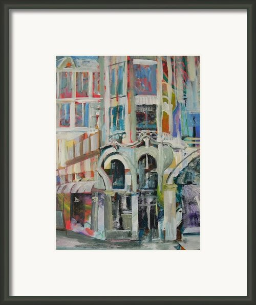 Cafe In Paris Framed Print By Carol Mangano
