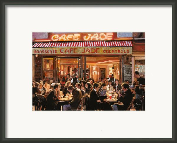 Cafe Jade Framed Print By Guido Borelli