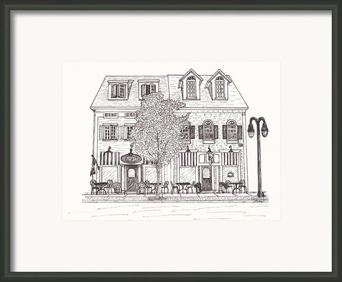 Cafe Mantic Framed Print By Michelle Welles